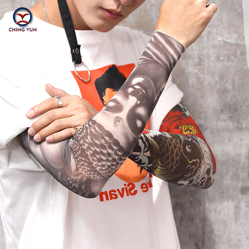 CHING YUN New Fashion Tattoo Sleeves Arm Warmer Unisex UV Protection Outdoor Temporary Fake Tattoo Arm Sleeve Warmer Sleeve FUO