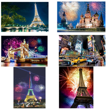 5d Diy Diamond Painting Scenery Paris New York Moscow embroidery 3d Cross Stitch Embroidery mosaic Home Kit
