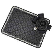 Car Ornament Anti-slip Mat with Flower Silicone Decoration Non-slip Perfume Pad Auto Dashboard GPS Cell Phone Mobile Mat