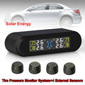 Free shipping!TPMS Tire Pressure Monitor System+4 External Sensors Solar Power LCD Monitor
