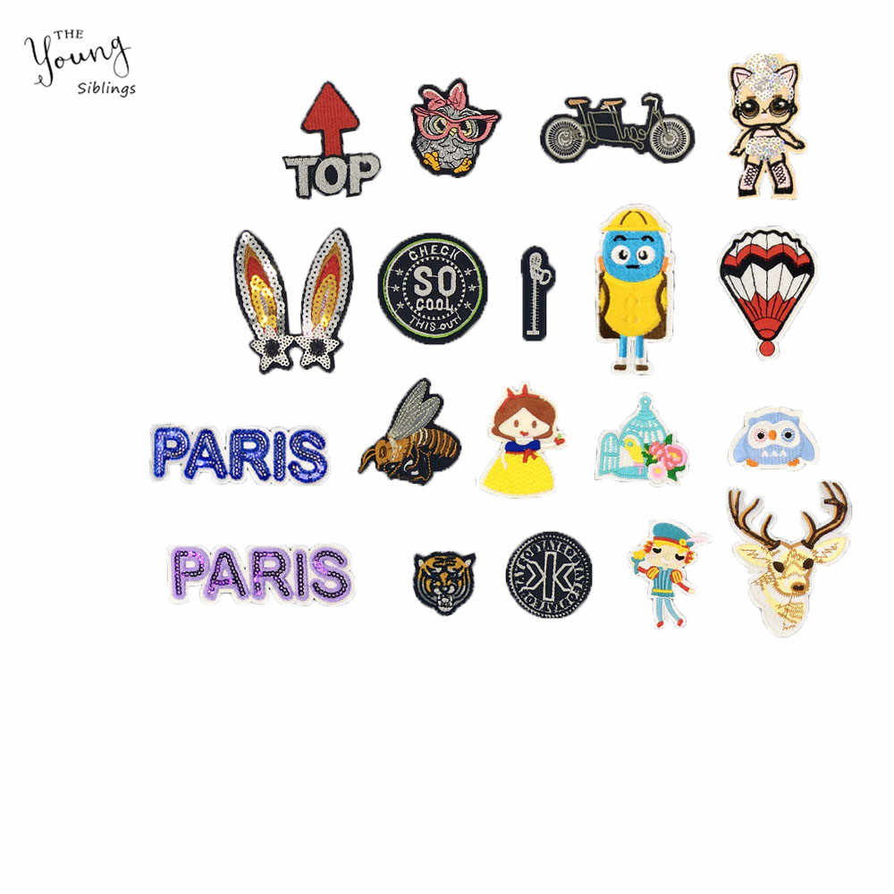 Cartoon iron on Patches bike honeybee Embroidery patch Sewing Patch DIY Kids Clothes Jacket Cap Sewing Applique Badges Accessory