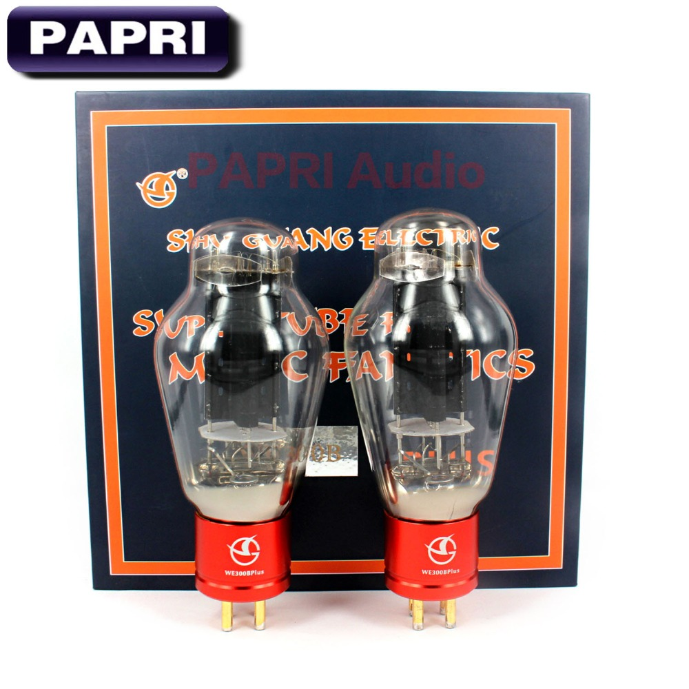 цена PAPRI Newest WE300B PLUS Vacuum Tube HiFi Shuguang300B Replace For Audio HIFI DIY Tube Amplifier Factory Tested Matched 1PCS в интернет-магазинах