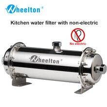 Wheelton 304 Edelstahl Wasserfilter Ultrafiltration Wasserfilter, 380L, Kommerziellen Hause Küche Trinken Gerade UF Filter