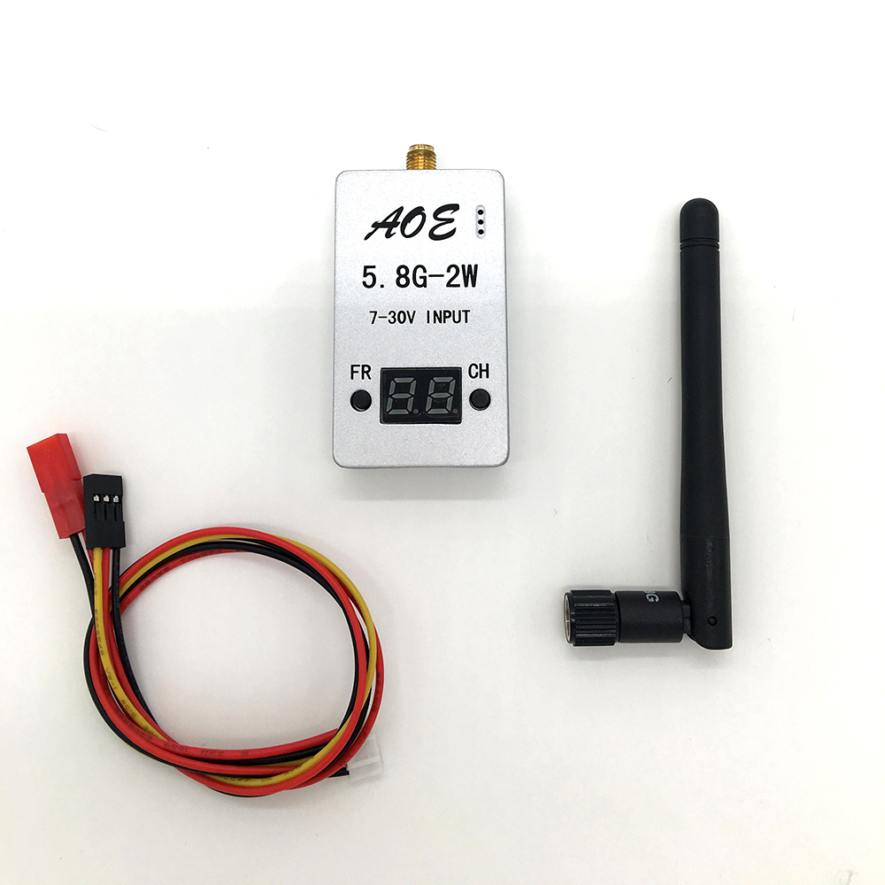 New FPV 5.8G 2000W 2W 32CH Wirless Audio Video AV Transmitter  for Multicopter Car Video Backview System Wifi Aerial Photo TS933