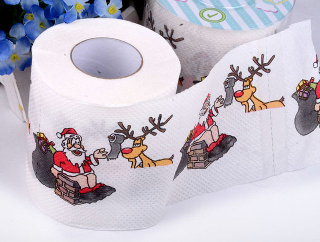 Online shop 2 packs kerst printing papier wc weefsels nieuwigheid