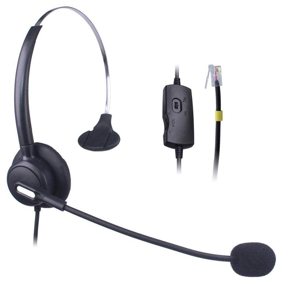 US $19 98 23% OFF|Wantek Telephone Headset for Cisco 7911 7912 7906G Avaya  1608 1616 9611G Yealink SIP T19P T20P T26P T32G T42G T46G Snom 300 320-in