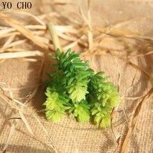 YO CHO, 3 шт., искусственное растение из экологически чистого ПВХ для дома, искусственное растение «сделай сам»