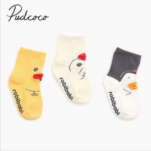 2018 Brand New Toddler Infant Kids Baby Knit Socks Fall Winter Warm Calf Socks Cute Mouth Anti-slip Knitted Socks Wholesale(China)