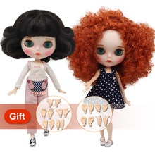 ICY factory blyth Doll Nude Joint Body with hand set A&B New matte faceplate white skin Fashion Dolls gift Special Offer(China)