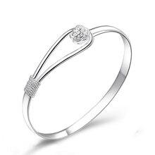 AEotaku Silver Bracelet Female Simple Student European and American Jewelry Dear Handmade Jewelry Wild Korean Open Bracelet
