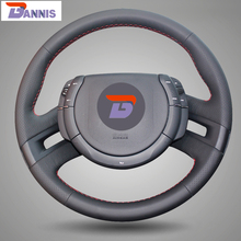 BANNIS Black Artificial Leather DIY Hand stitched Steering Wheel Cover for Citroen C4 Picasso 2012 2014