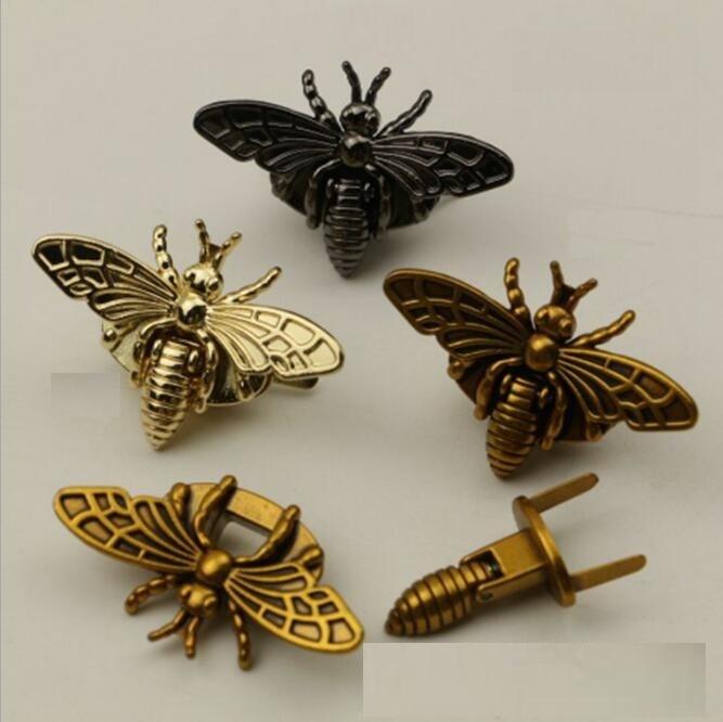 все цены на (10 pieces/lot) Luggage Handbag Bee Shape Decoration Screw Lock DIY Hardware Accessories