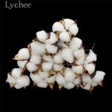 Lychee Life 10 шт. искусственные Натуральные Сушеные хлопковые цветы, сушеные прессованные цветы, поделки «сделай сам», украшение для свадебной в...