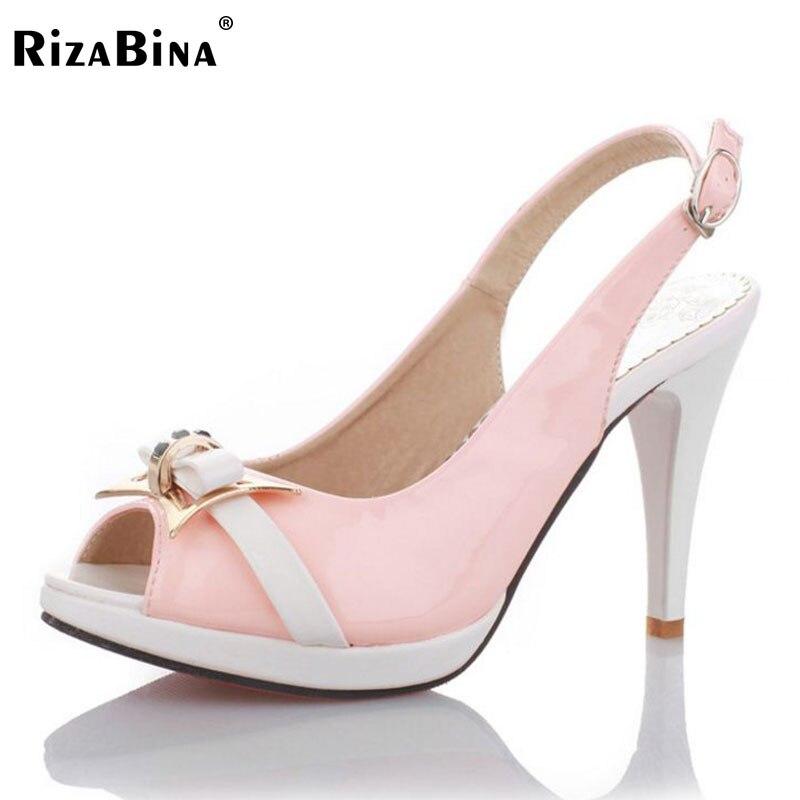Kadınlar Yüksek Topuk Sandalet Seksi Açık Ayak Geri Kayış Ofis Ayakkabı Kaliteli Ayakkabı Moda Düşük Platformlar Ayakkabı Boyutu 33-43 PA00771