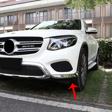 For Mercedes Benz GLC accessories 2016 2017 2018 ABS Chrome car Front guard Corner Strip cover trim auto styling 2pcs for mercedes benz glc 2016 1pc abs chrome glc260 frame headlight adjustment trim cover moldings car styling accessories