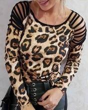 Women Hollow Sexy Off Shoulder Shirts Pullovers Female Ladies Full Sleeve O Neck Silm Leopard Tops r austin freeman osirise silm