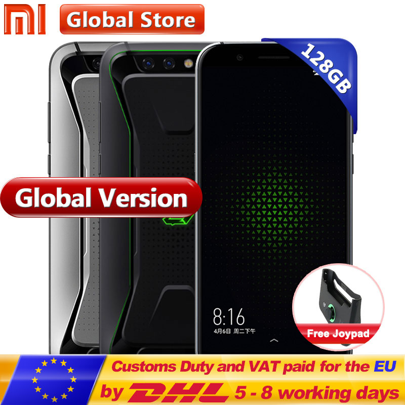 D'origine Mondial Version Xiaomi Noir Shark Gaming Mobile Téléphone 8 gb 128 gb Snapdragon 845 Octa Core Plein Écran 5.99 double 20.0MP