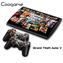Grand Theft Auto V For PalyStation 3 Slim 4000 Console Sticker GTA 5 & 2 Controller Decals For Sony PS 3 Slim4000 Games
