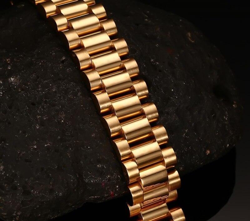 Wide Luxury Men's Watch Band