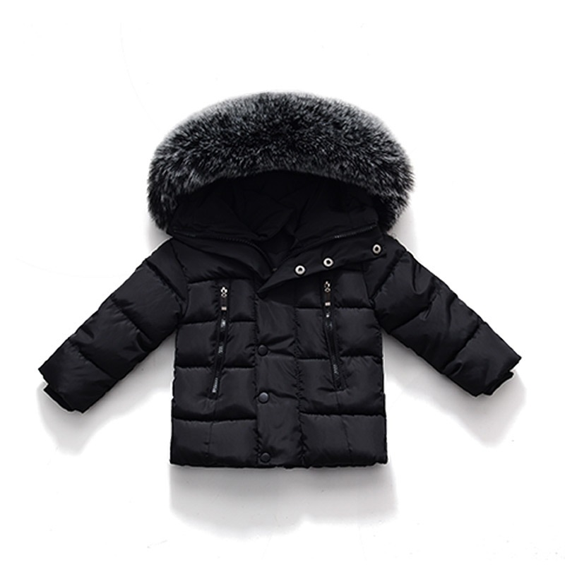 Winter Jackets For Girls Boys Warm Coat Kids Clothes Snowsuit Outerwear Children Clothing Baby Fur Hooded Jacket Infant Parkas buenos ninos thick winter children jackets girls boys coats hooded raccoon fur collar kids outerwear duck down padded snowsuit