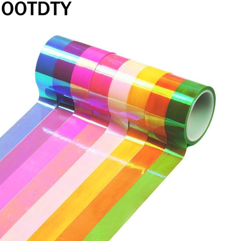 8pcs/set Rhythmic Gymnastics Decoration Holographic Glitter Tape Ring Stick Accessory 15mm*5m Stationery Decorative DIY Masking
