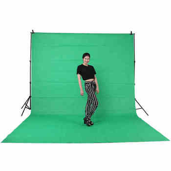 2.88*3m  Adjustable Background Backdrop Support Stand Crossbar System Photo Studio&3*3m background cloth  CD50