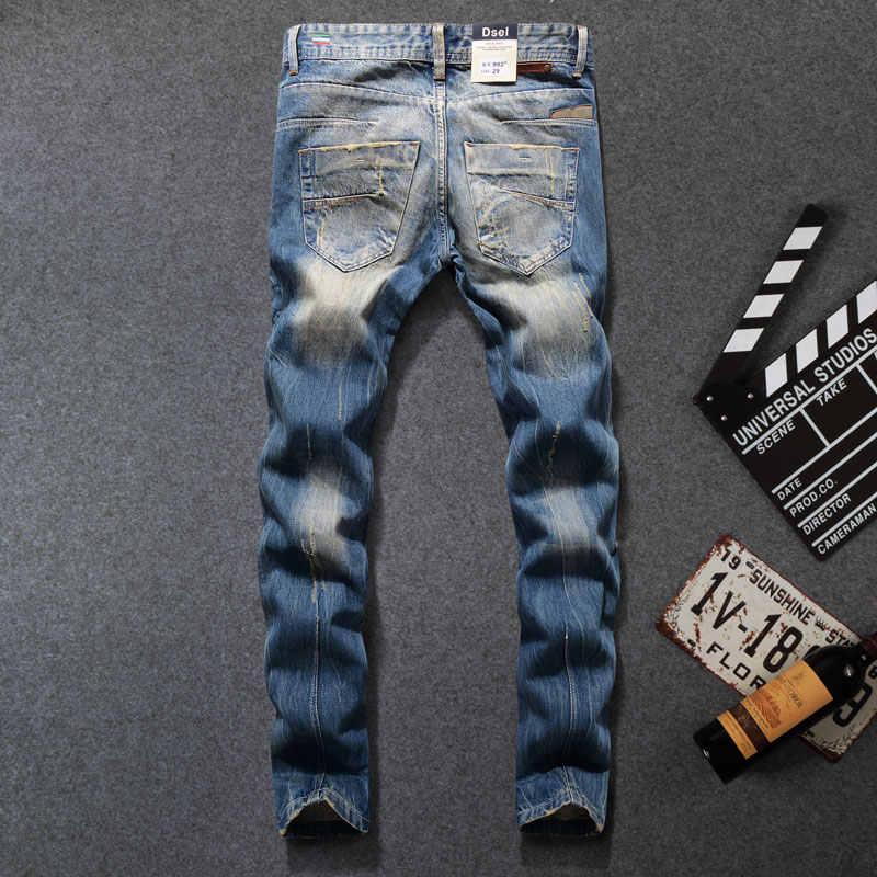 2019 Новое поступление, модные брендовые мужские джинсы dsel, мужские джинсы с потертым принтом, повседневные брюки, итальянские дизайнерские джинсы для мужчин! 982-B