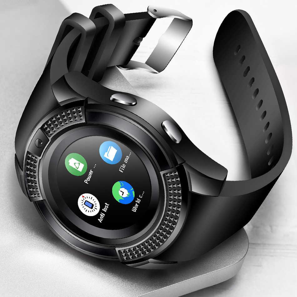 LIGE 男性女性のスマートウォッチ腕時計サポートカメラの Bluetooth SIM TF カードスマートウォッチ Android 携帯用のカップルの腕時計 + ボックス