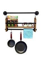 Деревенский настенный полка для приправ промышленная Кухня приправа труба полка для домашнего декора полки Кухня Полка для хранения