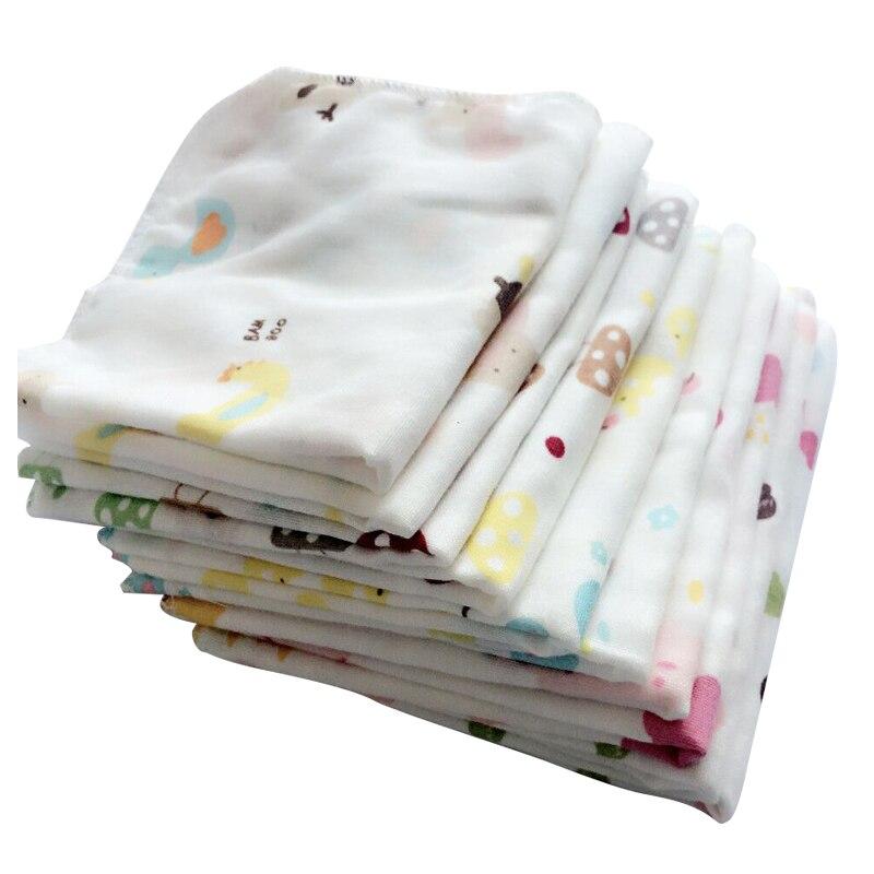 10 шт. для малышей Полотенца 28*28 см муслин Полотенца Платки носовые для девочек два слоя влажной Полотенца маленьких Кормление Полотенца ...