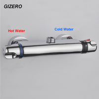 Contemporary Shower Faucet Thermostatic Mixing Valve Bathroom Thermostat Faucet Wall Mounted Bathtub Faucet ZR950