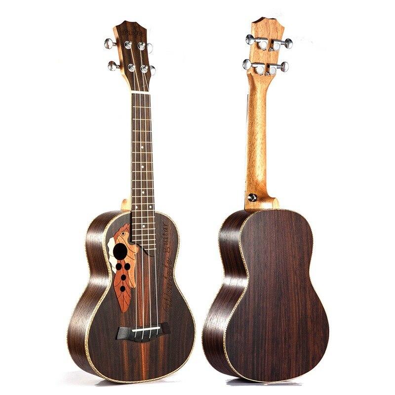 Ukulélé de Concert Soprano 23 pouces en bois de rose uku Ukelele avec 4 cordes mini Hawaii guitare Instruments de musique - 6