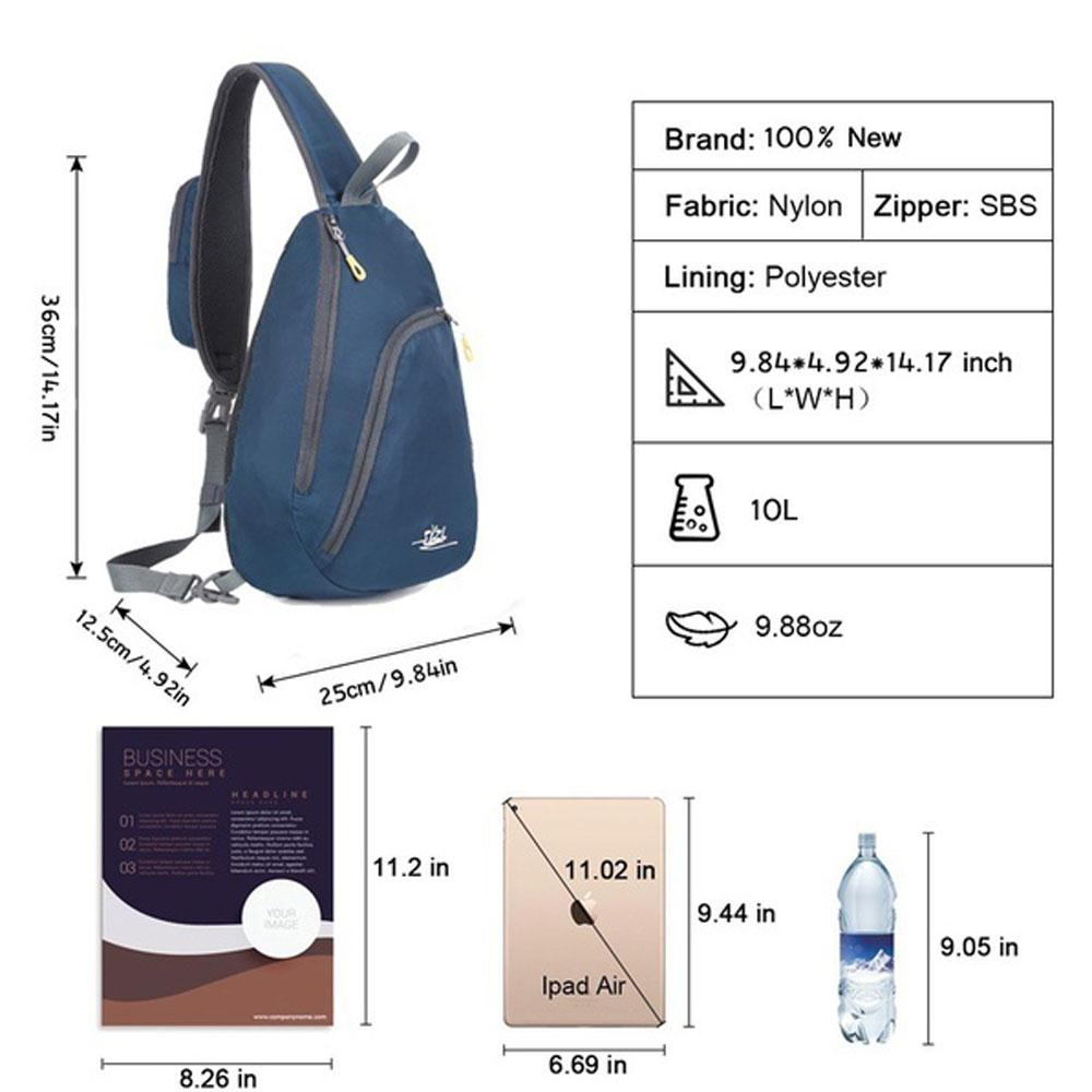 SOLEDI CrossBody Bag Unisex 10L Multipurpose Day Bag Chest Pack Cycling One  Strap Shoulder Backpack Hiking Camping Outdoors-in Backpacks from Luggage    Bags ... 48078ac5fd556