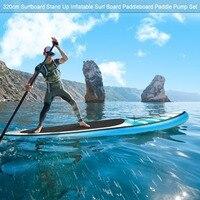 320 см взрослые наружные водные виды спорта серфинга стенд надувная доска для серфинга универсальная Paddleboard Paddle насос набор емкость 130 кг