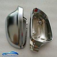Kibowear for Audi A6 C6 4F S6 A4 A5 B8 SQ3 Q3 A8 4E Side Wing Mirror Covers Cap Silver Matte Chrome 2008 2009 2010 2012
