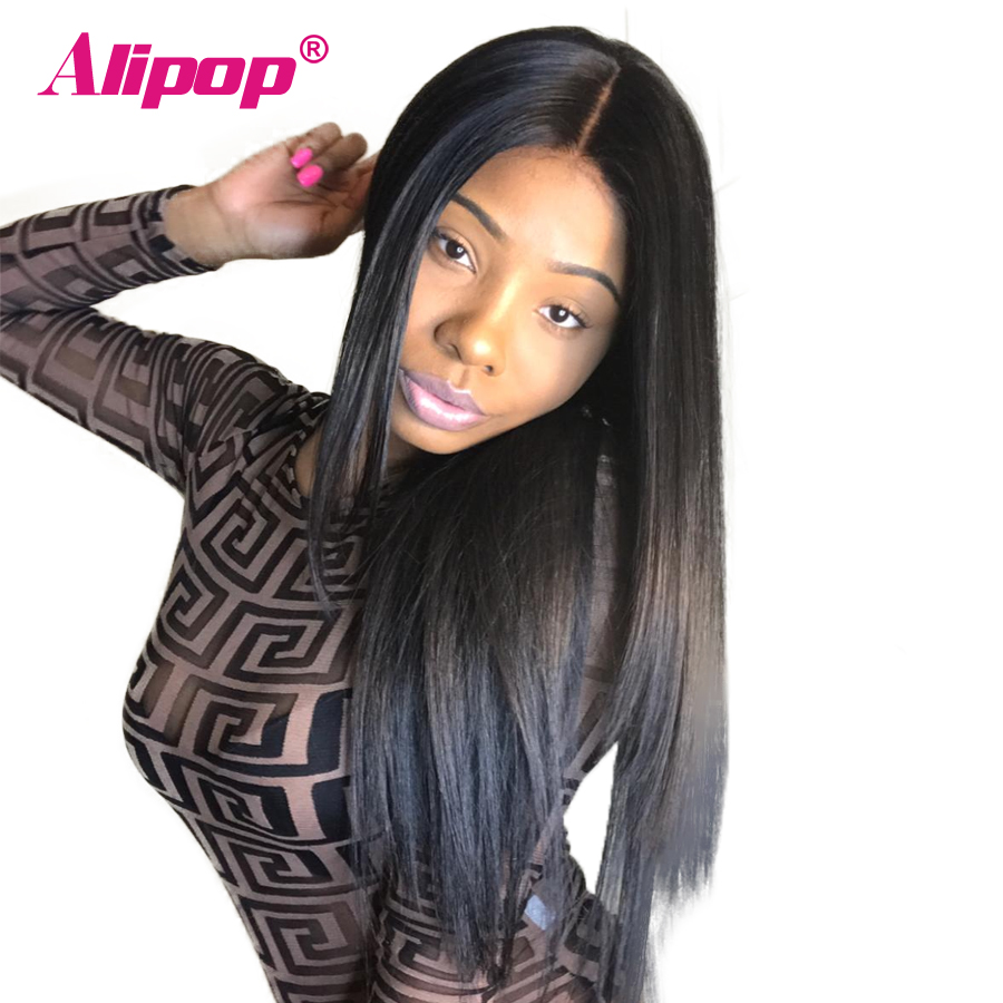 360 Lace Frontal Wig Peruvian Straight Wig Lace Front Human Hair Wigs With Baby Hair Remy