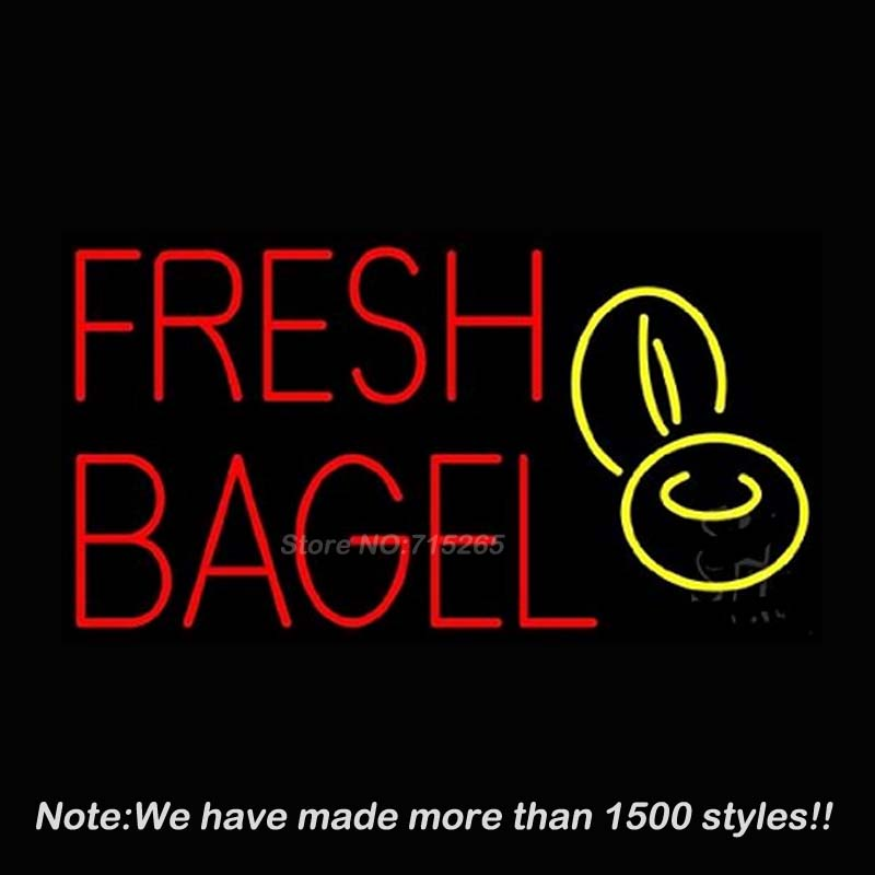 New Fresh Bagel Custom Neon Sign Neon Bulbs Store Display Glass Tube Handcraft Recreation Advertising Great Gifts 17x14 ord american auto racing neon sign decorate glass tube car neon bulb recreation room indoor frame sign store wall displays 24x20