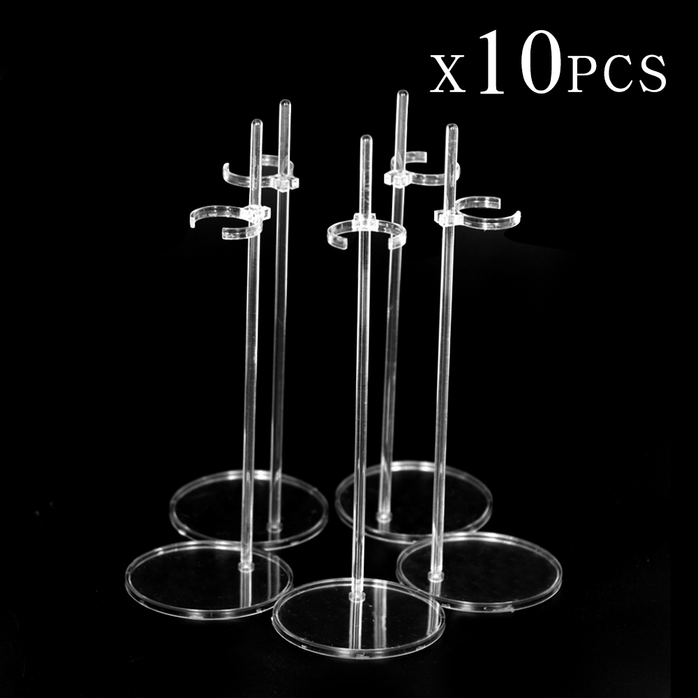UCanaan 10 PCS Stands for 1/6 Dolls Translucence Figure Display Holder High Quality Children Toys Accessories