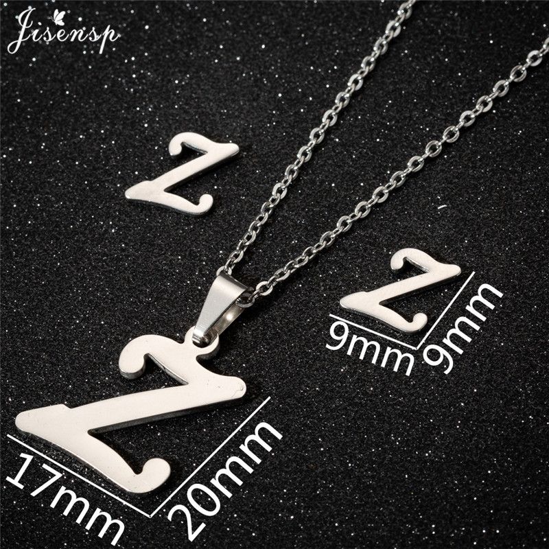 Jisensp Personalized A-Z Letter Alphabet Pendant Necklace Gold Chain Initial Necklaces Charms for Women Jewelry Dropshipping 52
