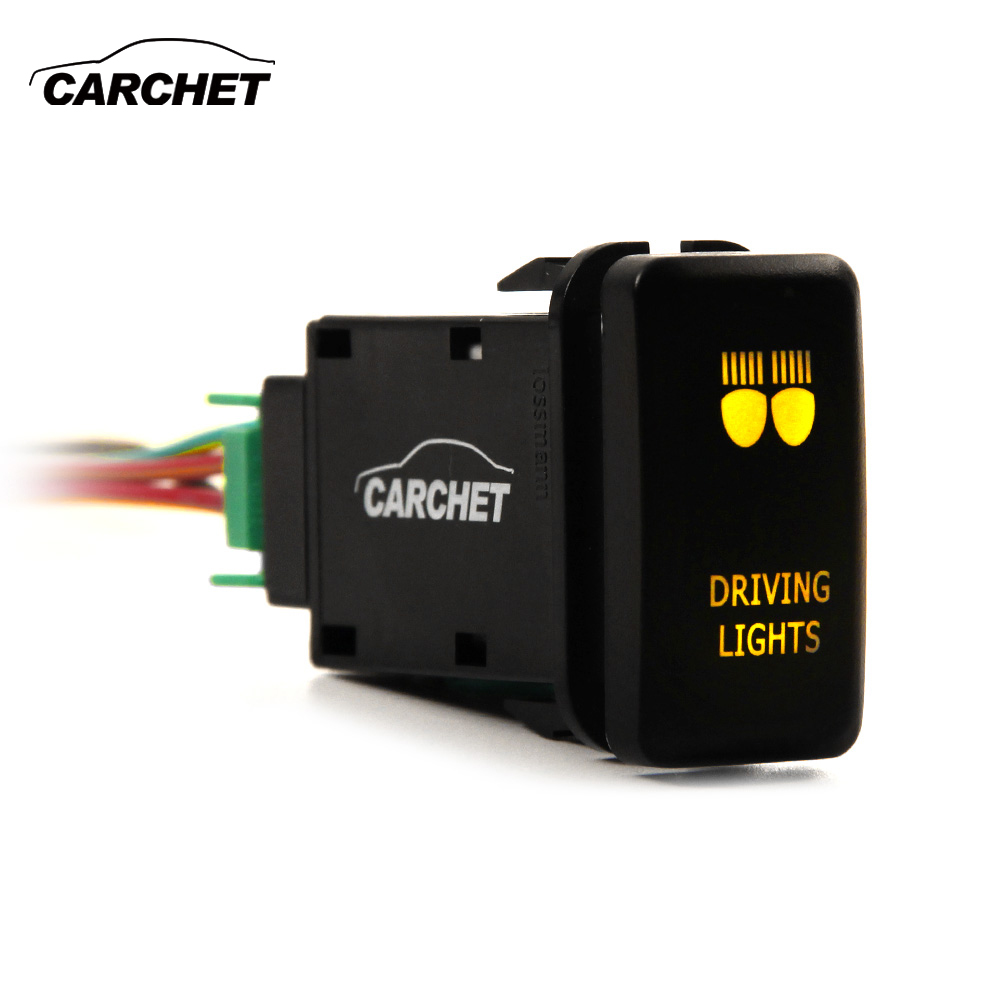 CARCHET 12V Driving Lights Switch Push Button on-off Switch For Toyota Landcruiser 79 Series New Model