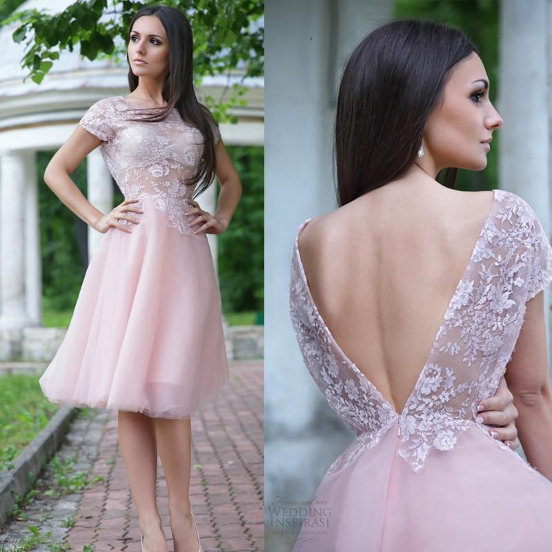 Popular Short Pink Wedding Dress-Buy Cheap Short Pink Wedding ...
