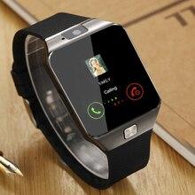 Дешевые Smart Watch dz09 спортивные SmartWatch 2017 телефон, 09 Reloj inteligente наручные Для мужчин Android sim-карты, часы