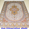 Mingxin Carpet 4x6 Feet Beige Persian Hand Knotted Area Rug Hand Made Orienatal Rugs And Carpets