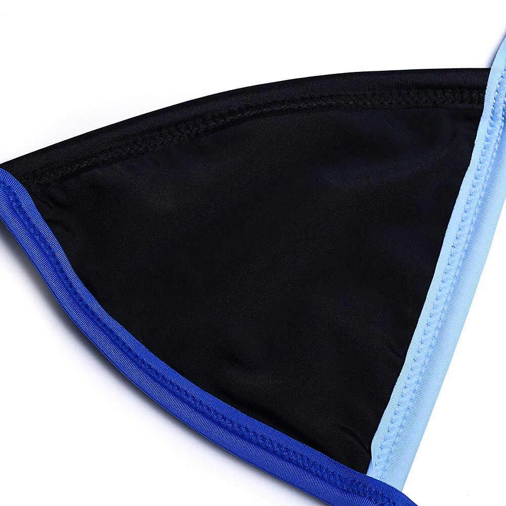 Mesh Patchwork Scrunch Butt Micro Bikini Brazilian Thong -4943