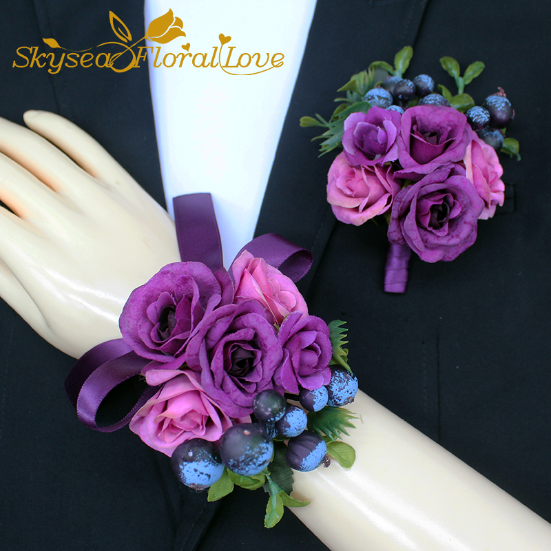 Health & Beauty Handmade Corsages Blue Rose Bridal Wedding Supplies Groom Boutonniere Bride Bridesmaid Hand Wrist Flower Artificial Flower Fs101 Other Mobility & Disability