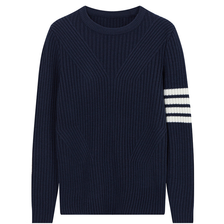 New 2019 Men Luxury Embroidered Classic Striped Knit Casual Sweaters Pullovers Asian Plug Size High Quality Drake #AB78