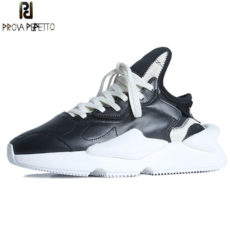 Prova Perfetto vrai cuir femmes baskets plate-forme chaussures lacets Basket Femme Chaussure respirante plat marche chaussures amant