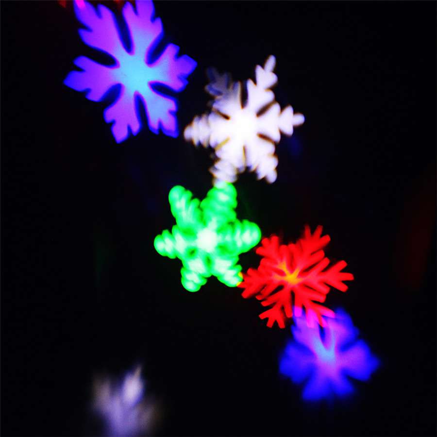 zinuo moving snow laser projector lamp snowflake led stage light
