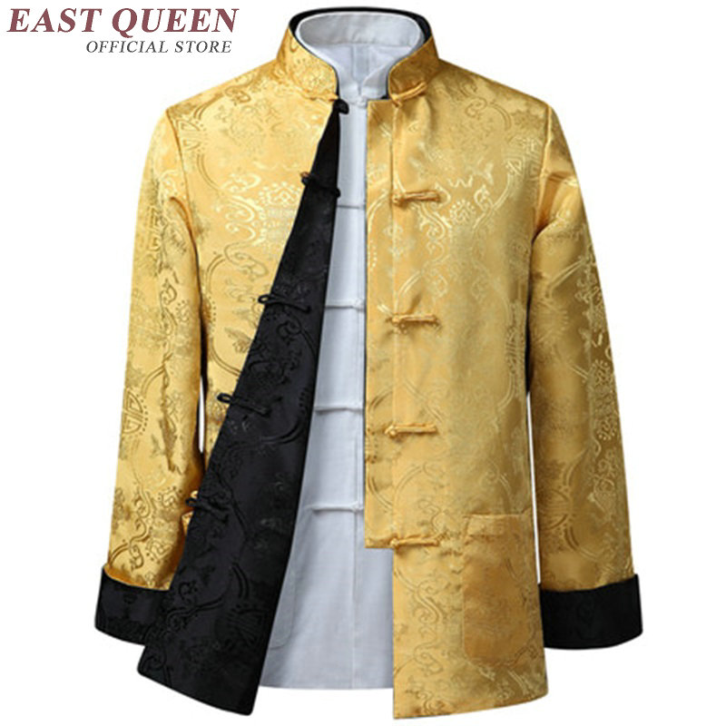 Traditional chinese clothing for men male Chinese winter bomber jacket for men wushu kung fu outfit