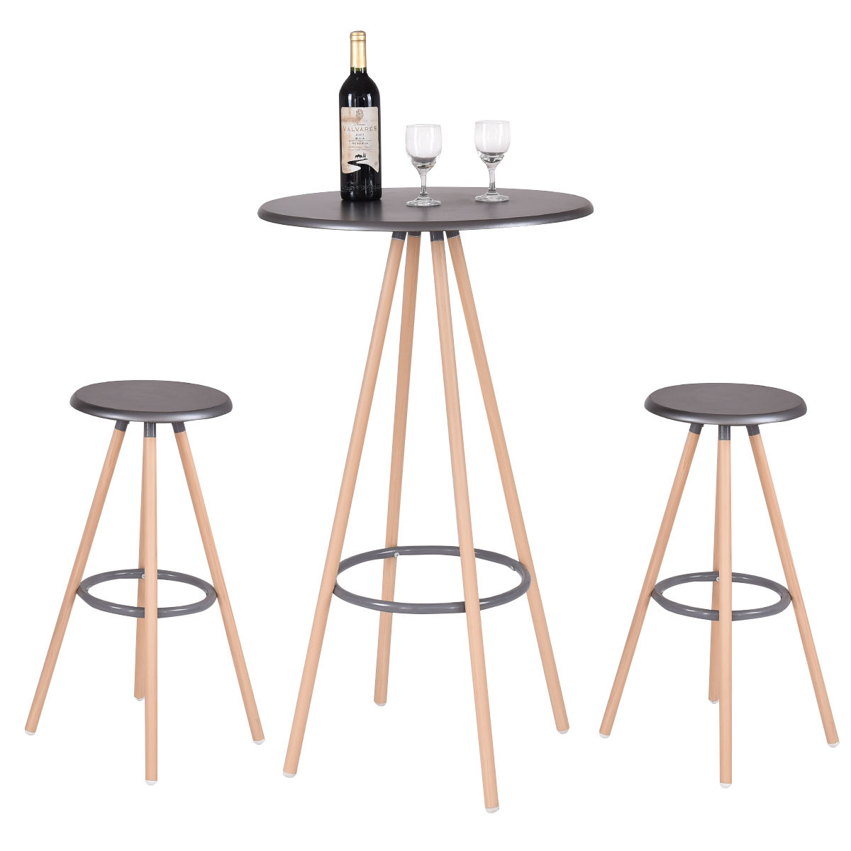 Pub Table And Chairs 3 Piece Set 2 Ikea Sleeper Chair Aliexpress Buy Giantex Bar With